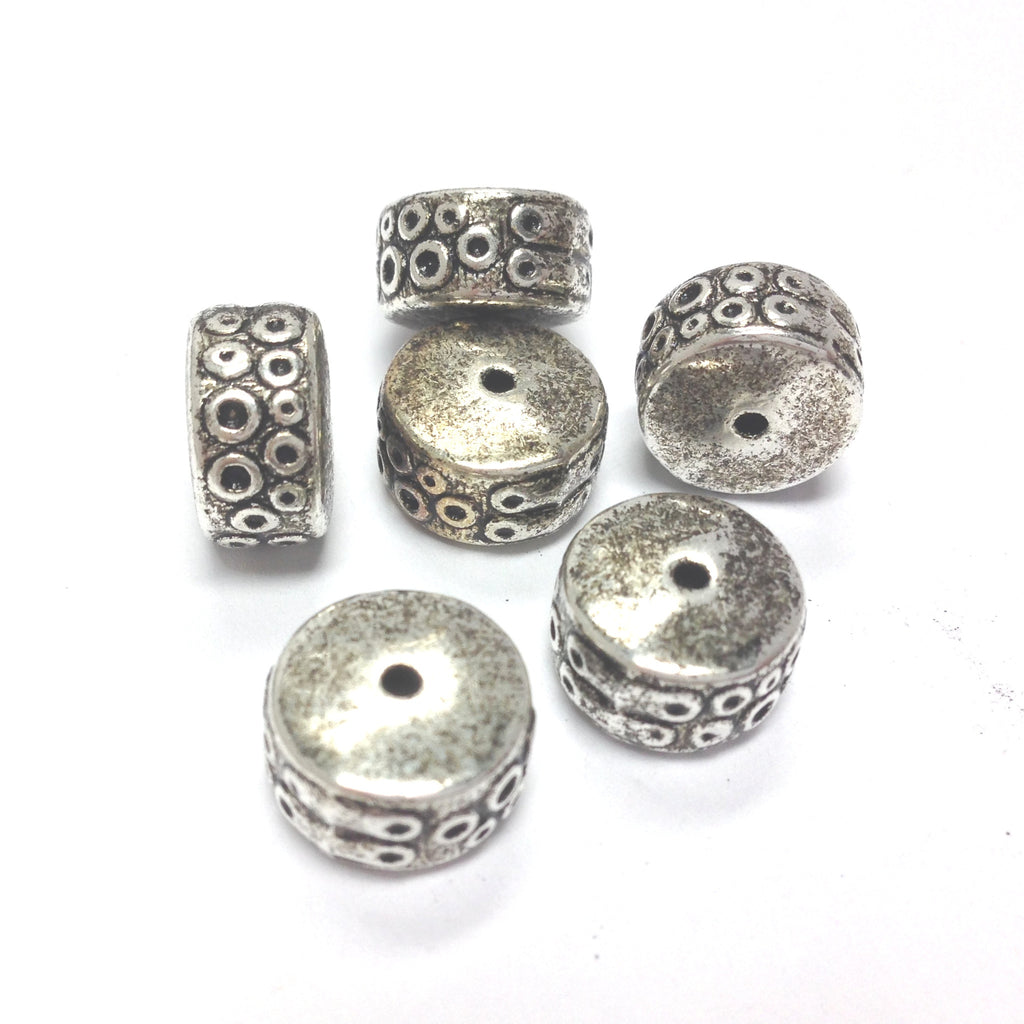 12X7MM Antique Silver Rondel (36 pieces)