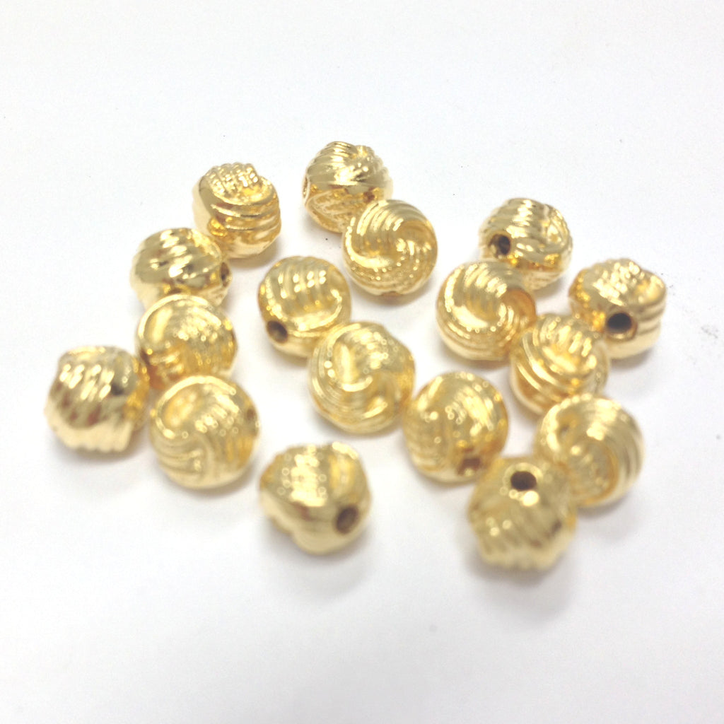 6MM Hamilton Gold Knotted Rope Bead (144 pieces)