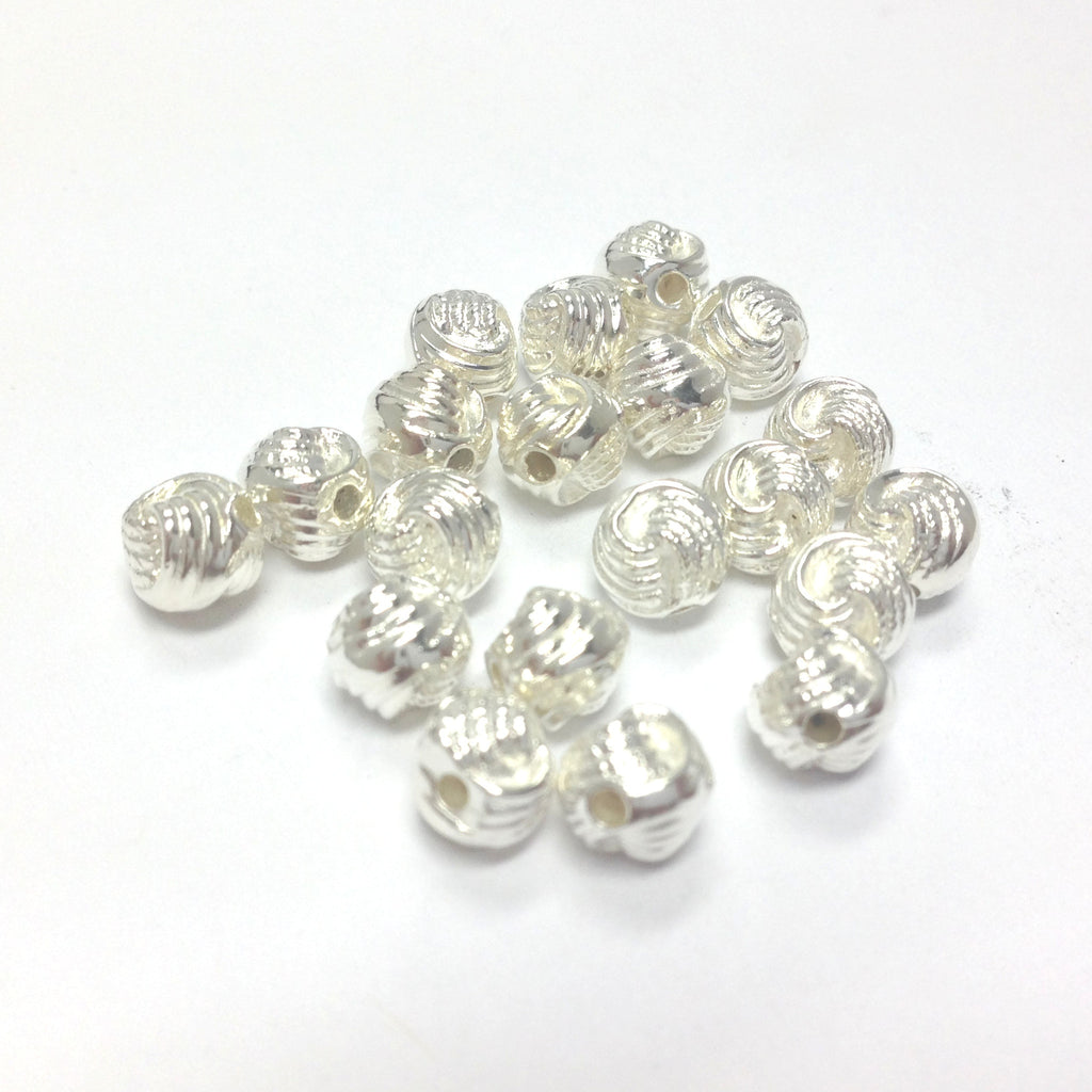 6MM Silver Knotted Rope Bead (144 pieces)