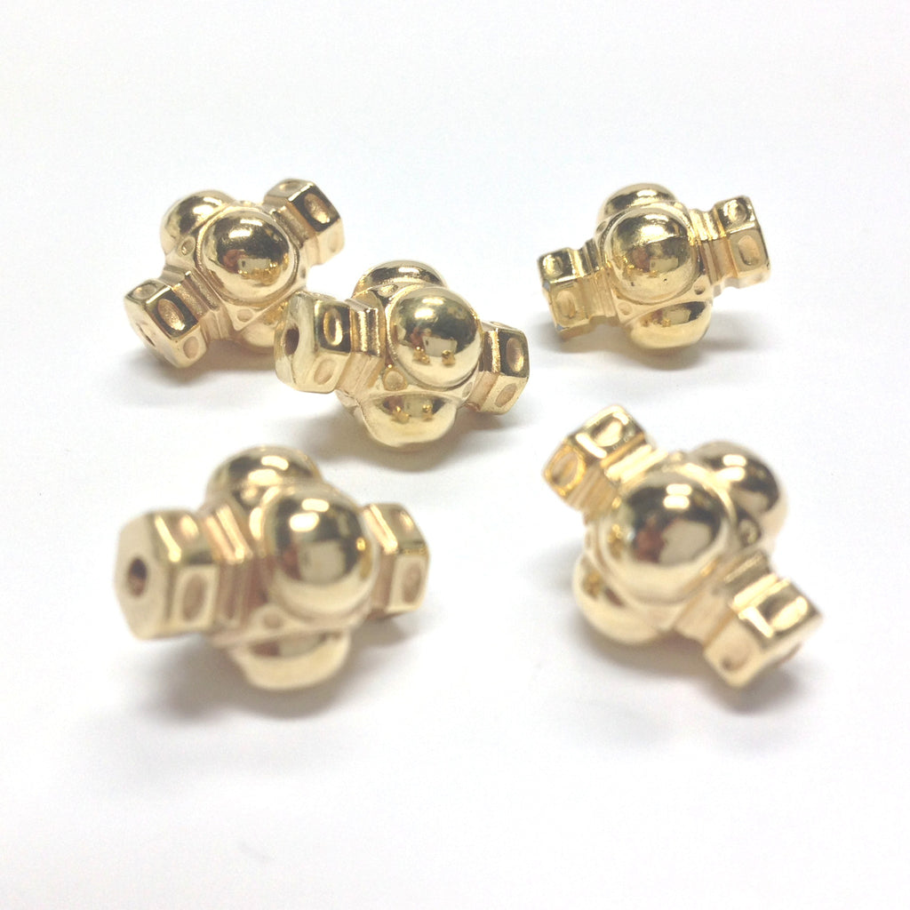 14X11MM Hamilton Gold Fancy Bead (36 pieces)