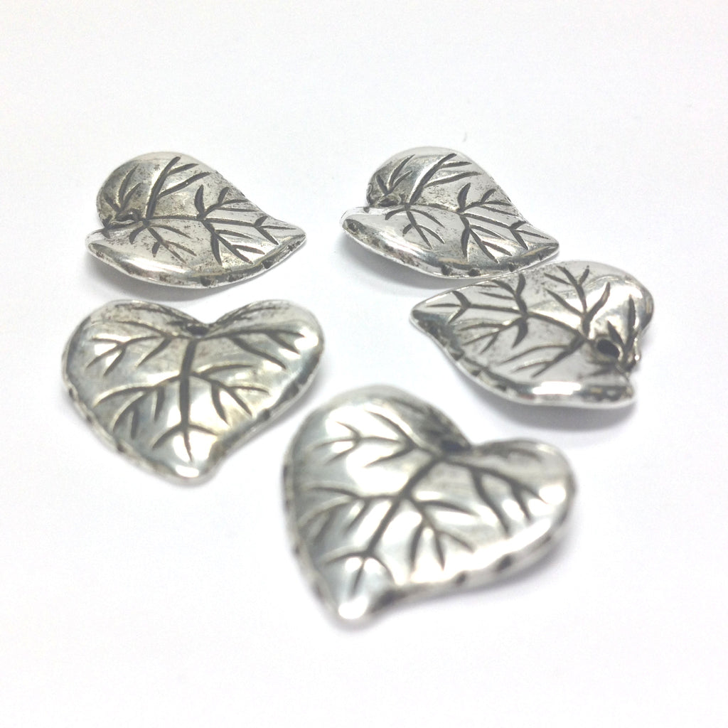 15MM Antique Silver Leaf Drop (72 pieces)