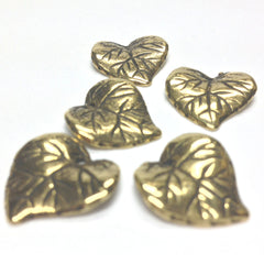 15MM Ant. Hamilton Gold Leaf Drop (72 pieces)