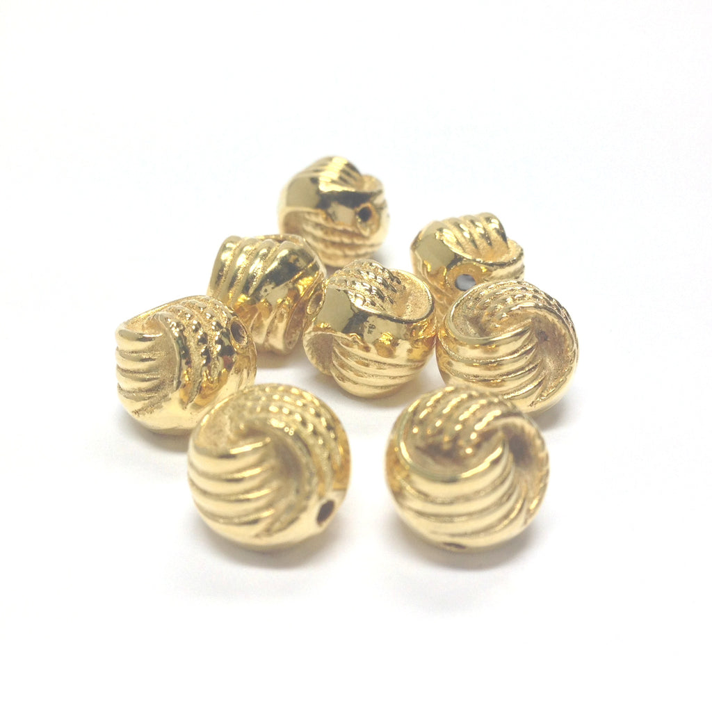 10MM Knotted Ham.Gold Rope Bead (72 pieces)