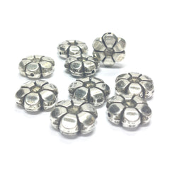 13MM Ant.Silver Flower Bead (72 pieces)
