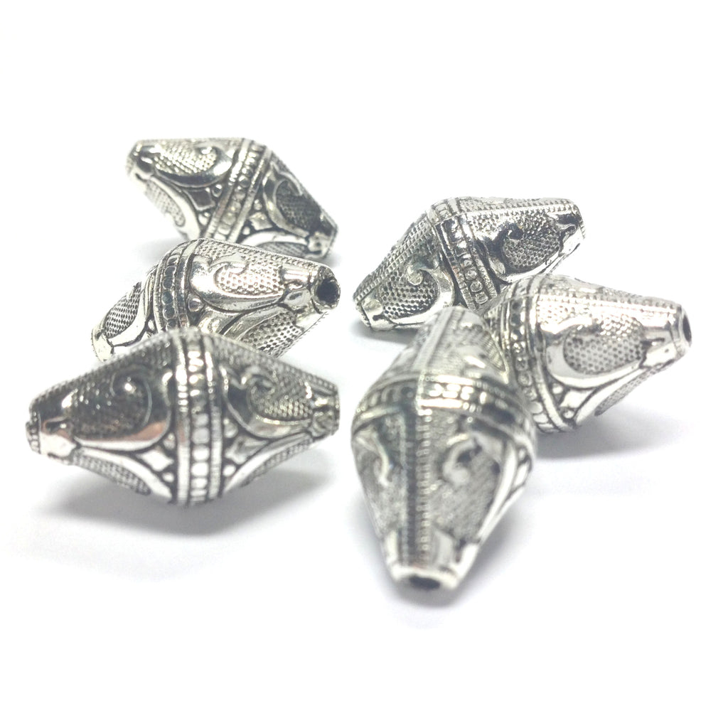 19X11MM Antique Silver Pyramid Bead (36 pieces)