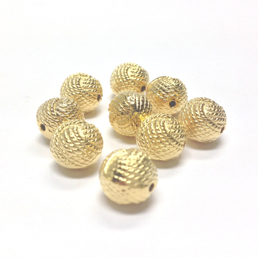 18MM Hamilton Gold Rope Bead (12 pieces)