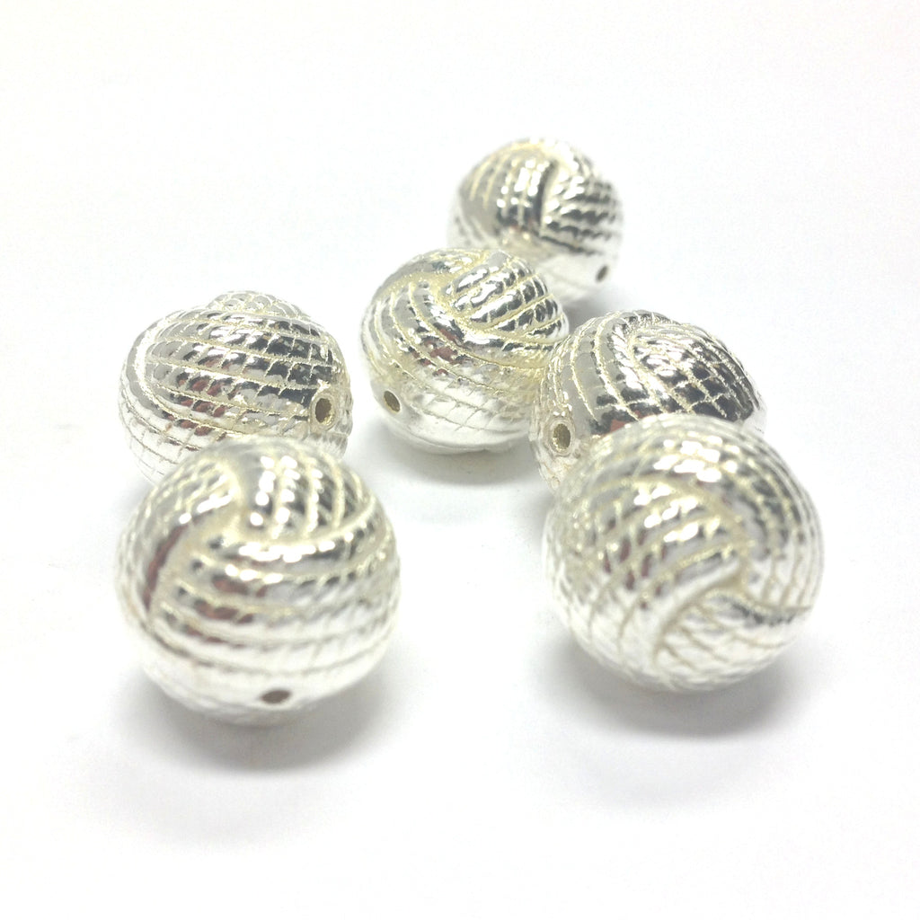14MM Silver Rope Bead (24 pieces)
