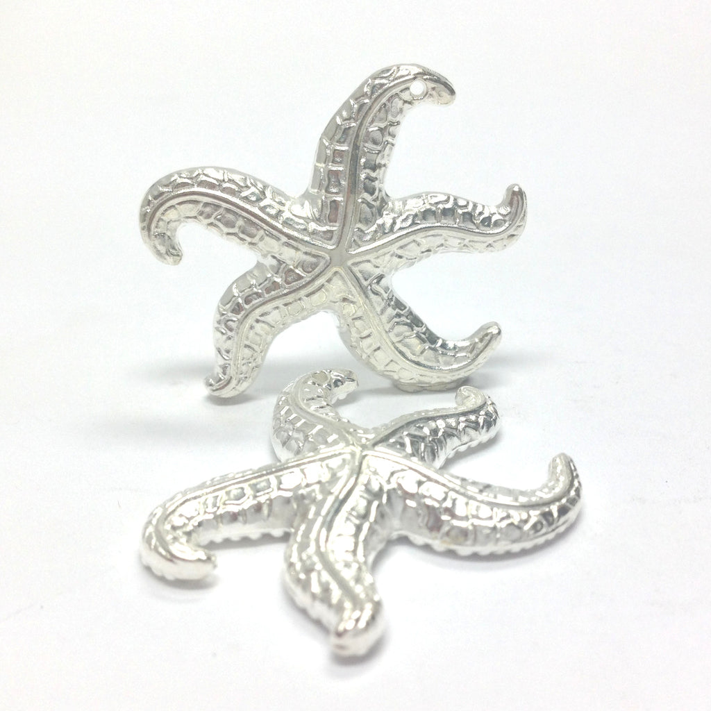 31MM Silver Starfish Drop (24 pieces)