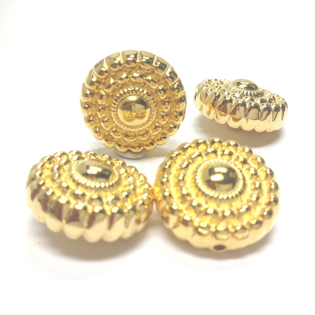 18X10MM Ham.Gold Disc Bead (24 pieces)