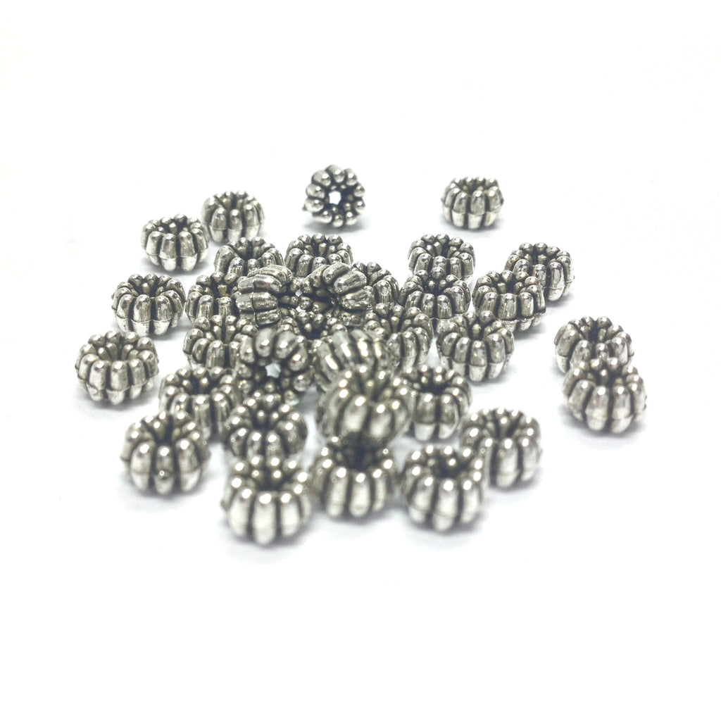 5MM Fancy Ant. Silver Rondel (144 pieces)