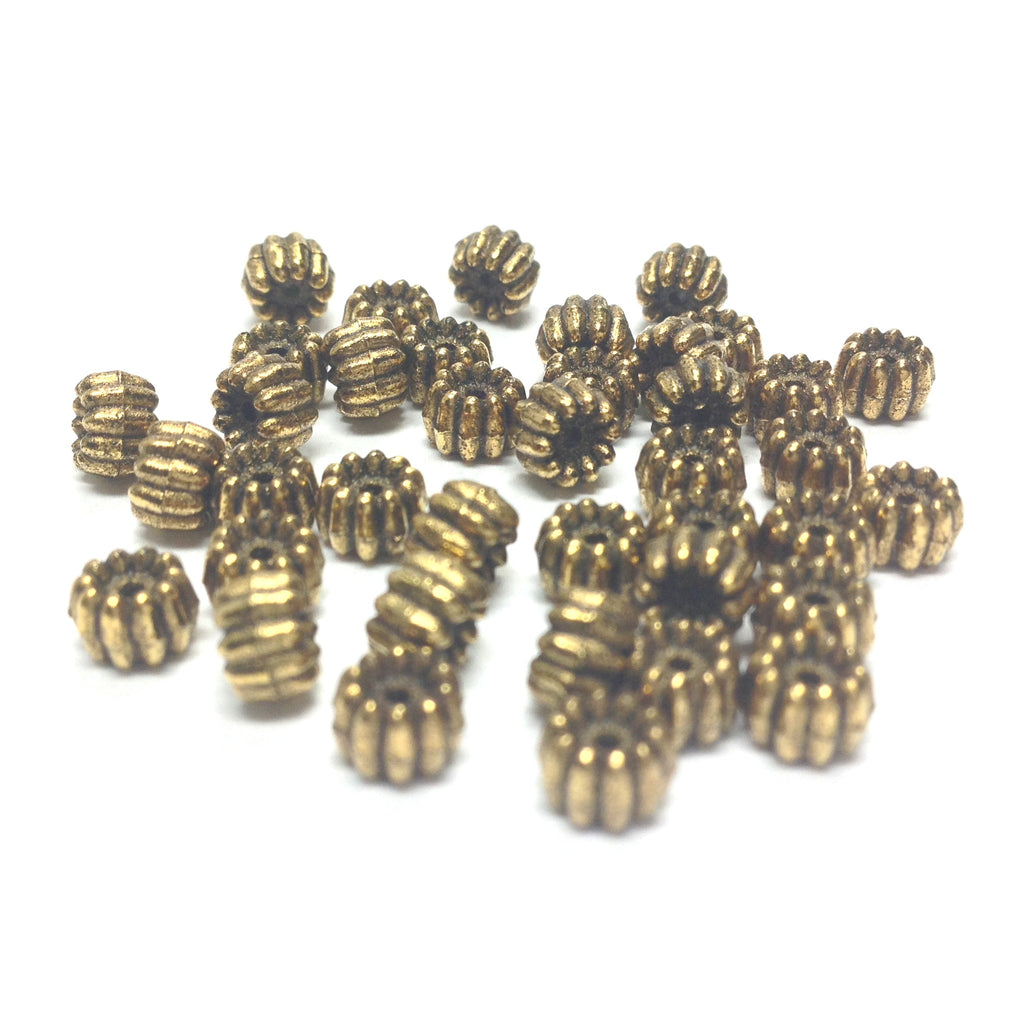5MM Fancy Ant.Ham.Gold Rondel (144 pieces)