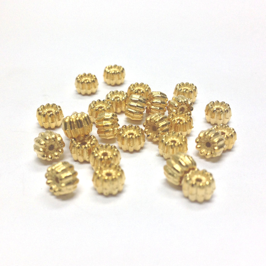 5MM Fancy Ham. Gold Rondel (144 pieces)