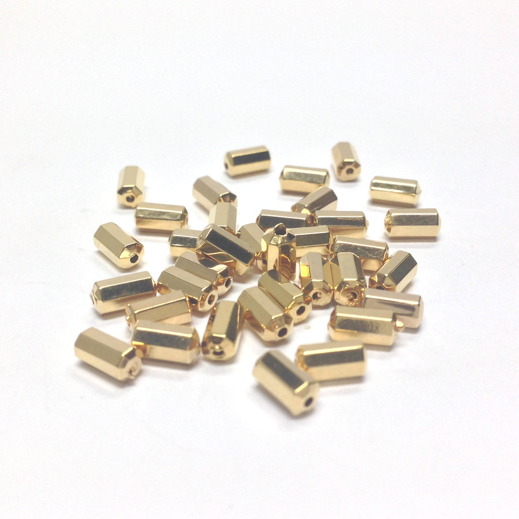 6X3MM Hamilton Gold Faceted Bead (144 pieces)