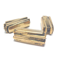 25MM Antique Gold Rectangle Bead (36 pieces)
