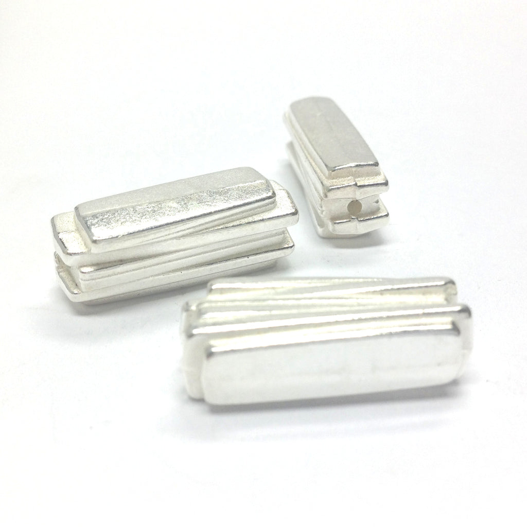 19MM Silver Rectangle Bead (72 pieces)