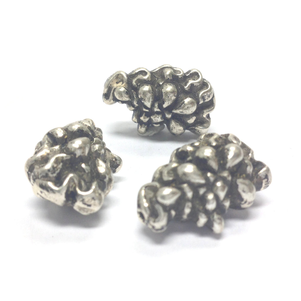 15X12MM Fancy Ant. Silver Bead (36 pieces)
