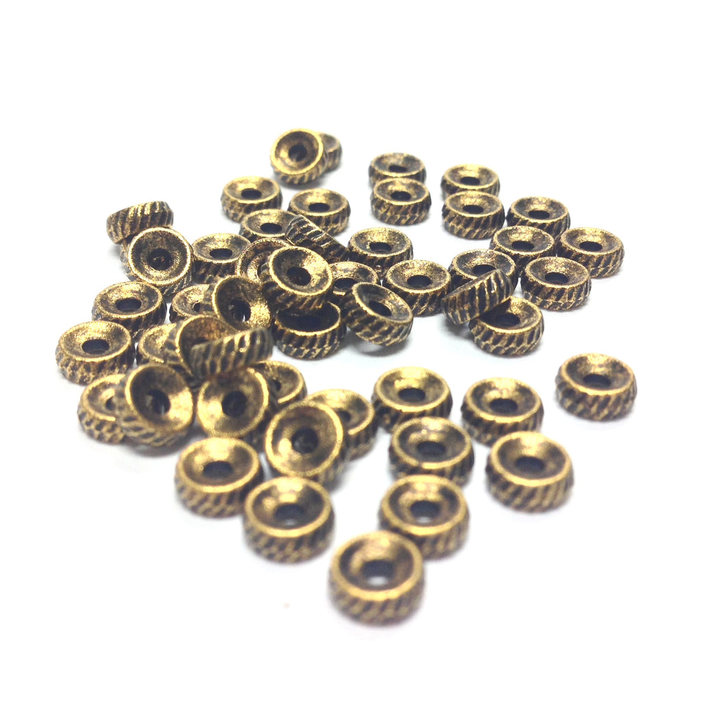 5MM Ant. Hamilton Gold Rondel (144 pieces)