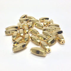 10X4MM Ham.Gold Oval Bead (144 pieces)