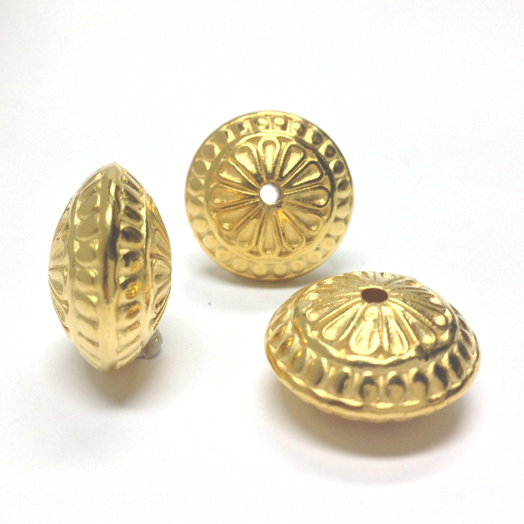 23MM Ham.Gold Fancy Rondel (12 pieces)