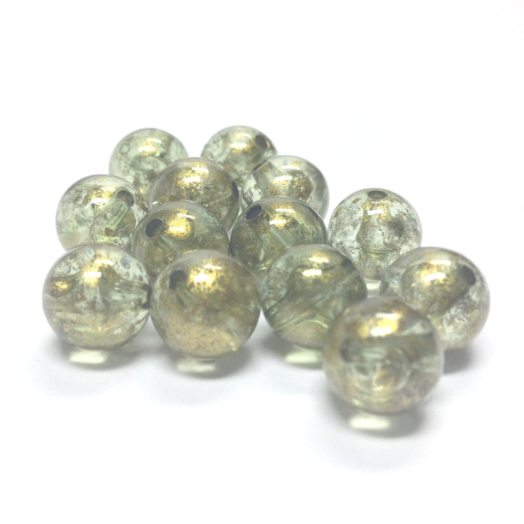 "10MM Green ""Gold Lace"" Bead (72 pieces)"
