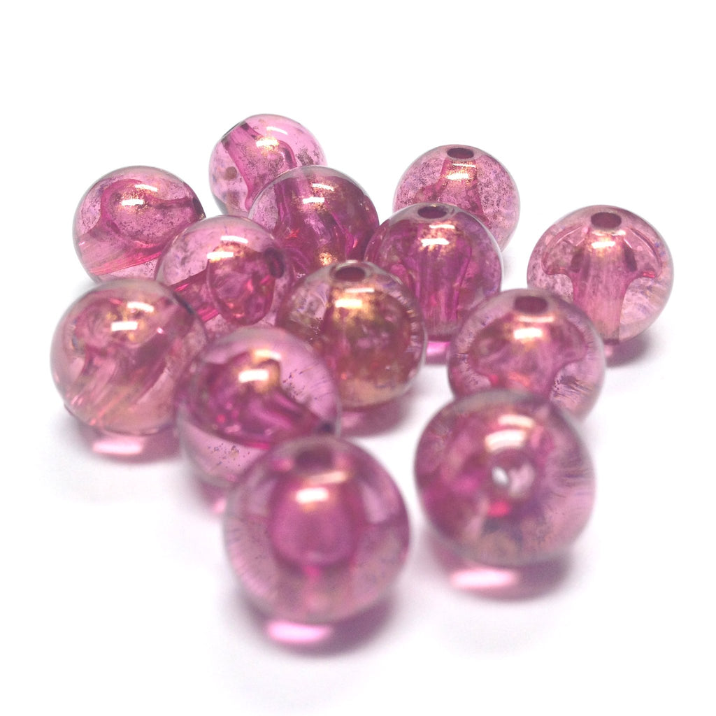 "10MM Lilac ""Gold Lace"" Bead (72 pieces)"