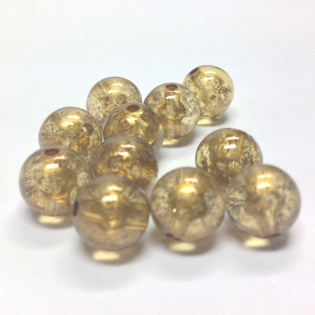 "12MM Topaz ""Gold Lace"" Bead (72 pieces)"