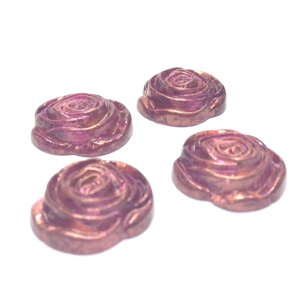 "17MM Lilac ""Gold Lace"" Rose Cab (24 pieces)"