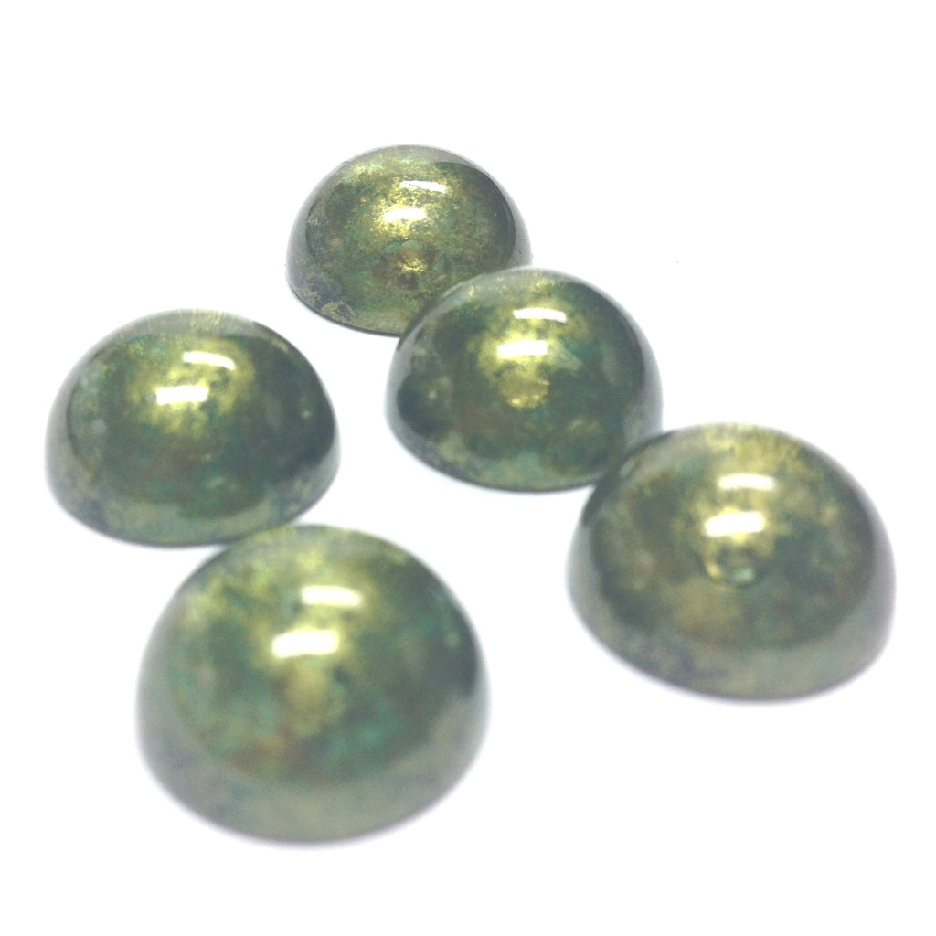"10MM Green ""Gold Lace"" Cab (72 pieces)"