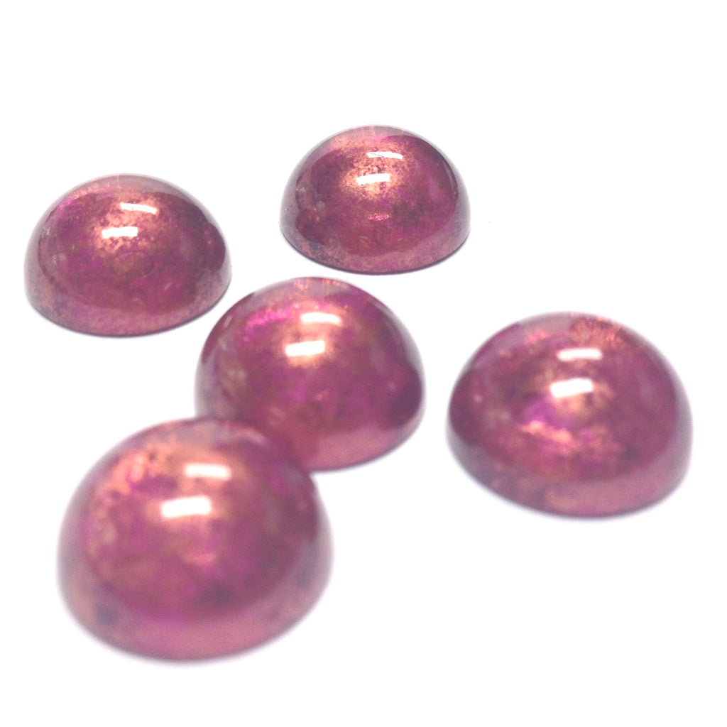 "14MM Lilac ""Gold Lace"" Cab (36 pieces)"