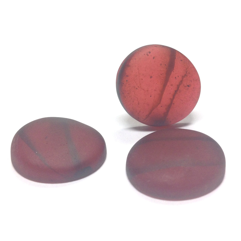 "18MM Garnet Mat ""Haze"" Baroque Cab (12 pieces)"