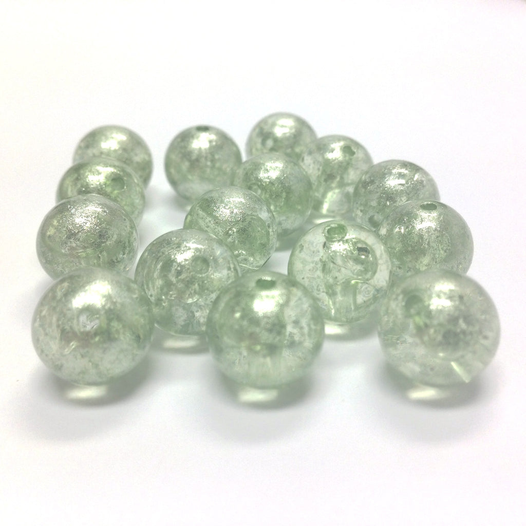 "10MM Green ""Silver Lace"" Bead (72 pieces)"