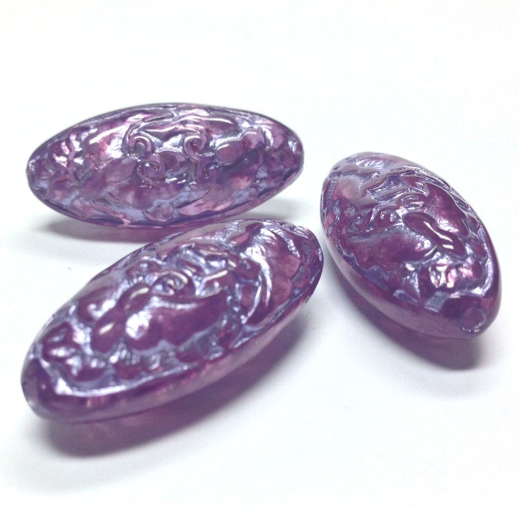 "15X33MM Lilac ""Halo"" Oval Bead (6 pieces)"
