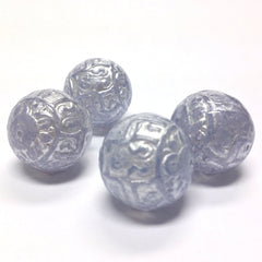 "19MM Blue ""Halo"" Round Bead (12 pieces)"