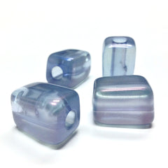 "15X21MM Blue ""Lumina"" Rectangle Bead (12 pieces)"