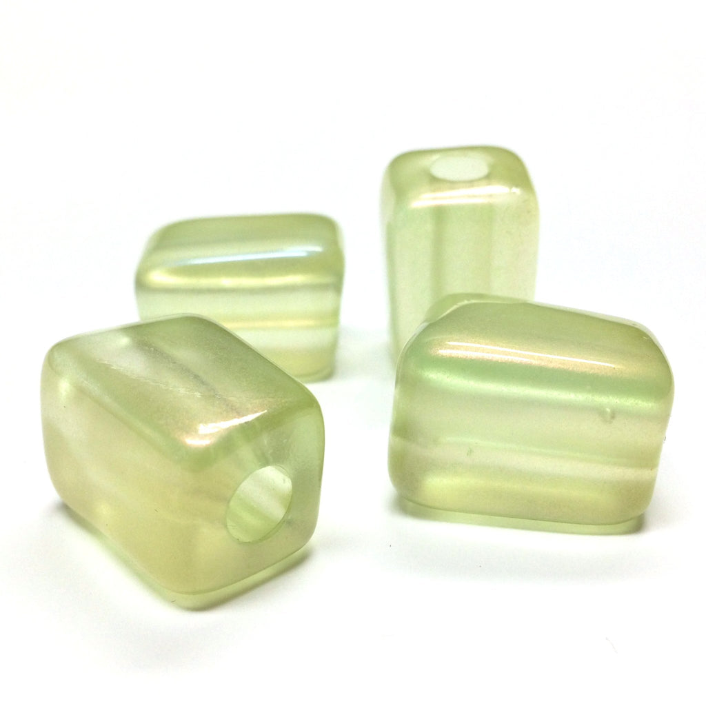 "15X21MM Green""Lumina"" Rectangle Beads (12 pieces)"
