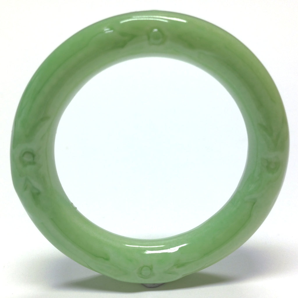 "42MM Celadon Green ""Glaze"" Ring (12 pieces)"