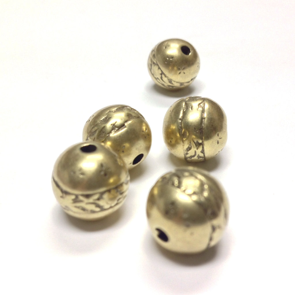 11MM Antique Gold Round Bead (36 pieces)