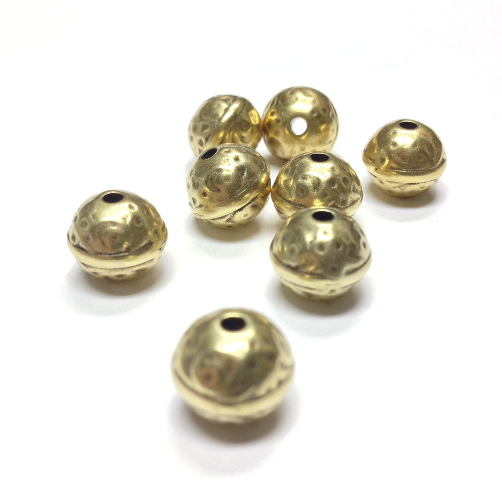 10MM Antique Gold Round Bead (36 pieces)