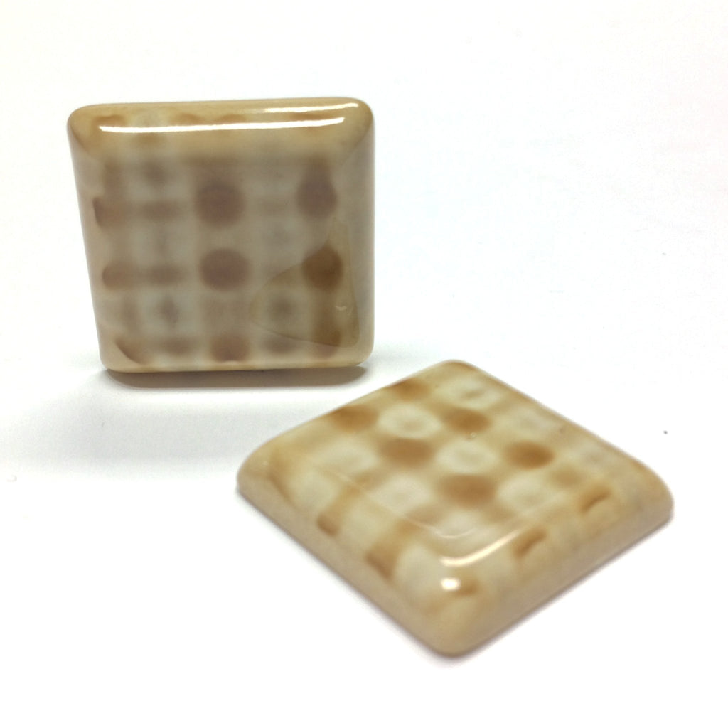 "22MM Beige ""Plaid"" Square Cab (6 pieces)"