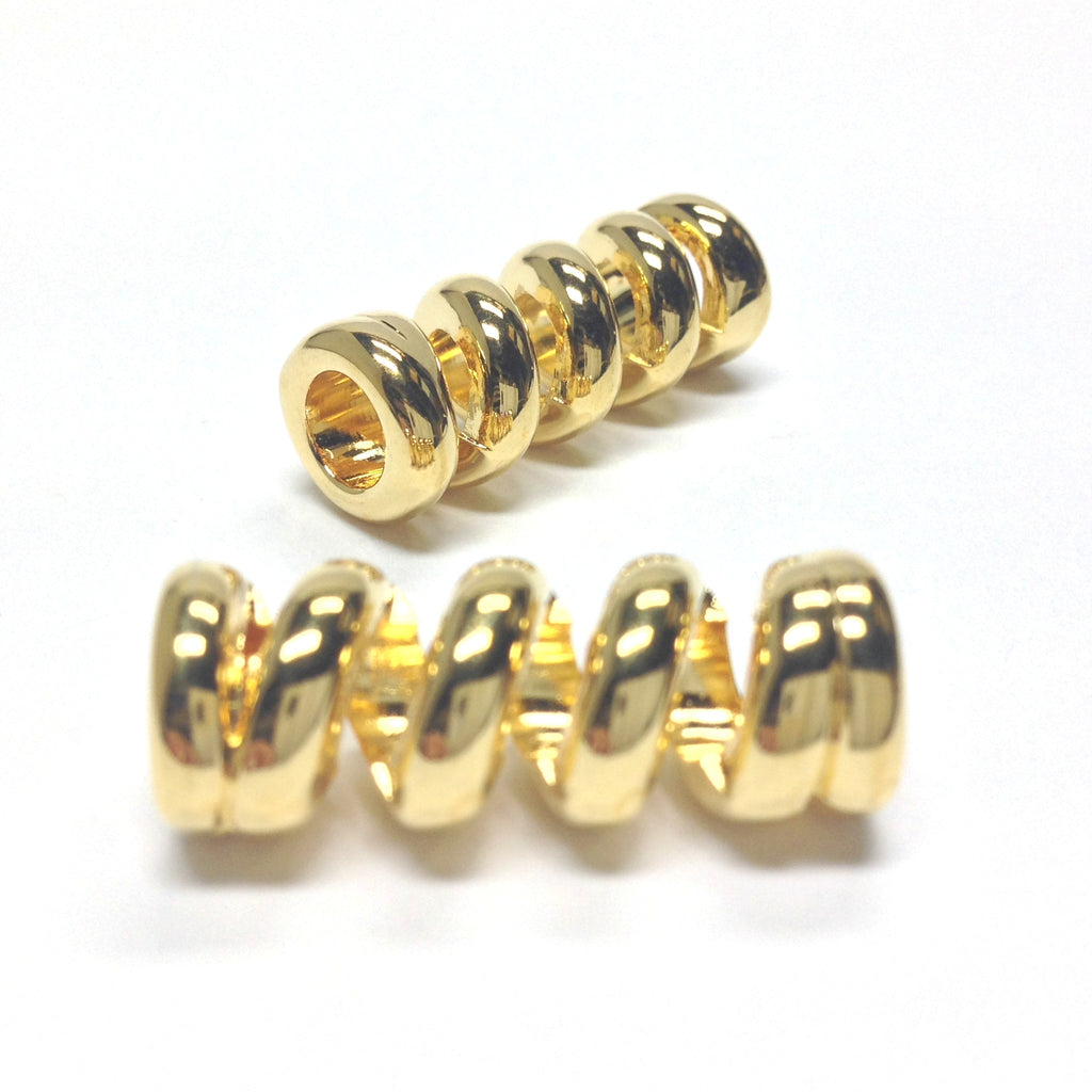28X11MM Gold Coil Tube (12 pieces)