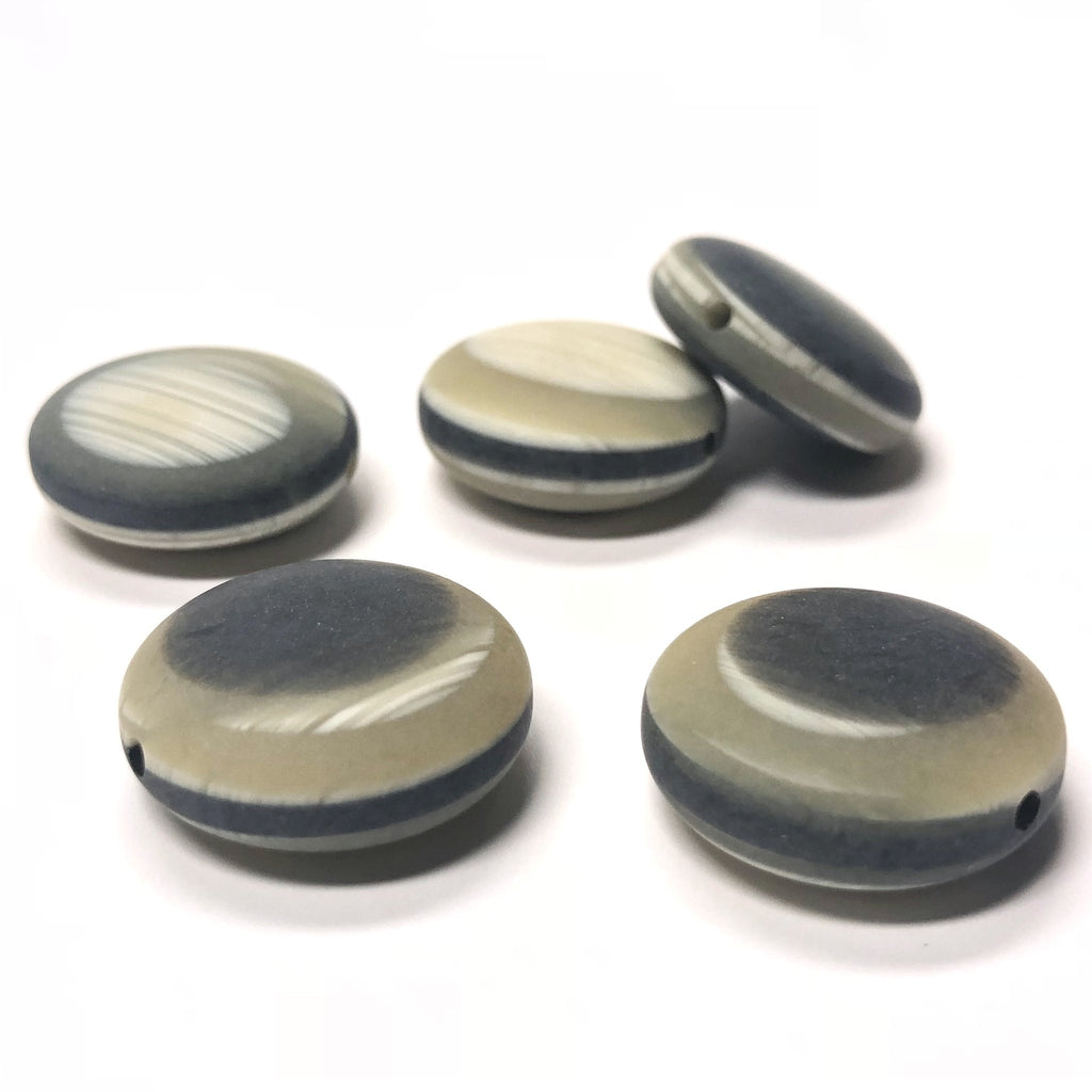 "19MM ""Horn"" Disc Bead (6 pieces)"