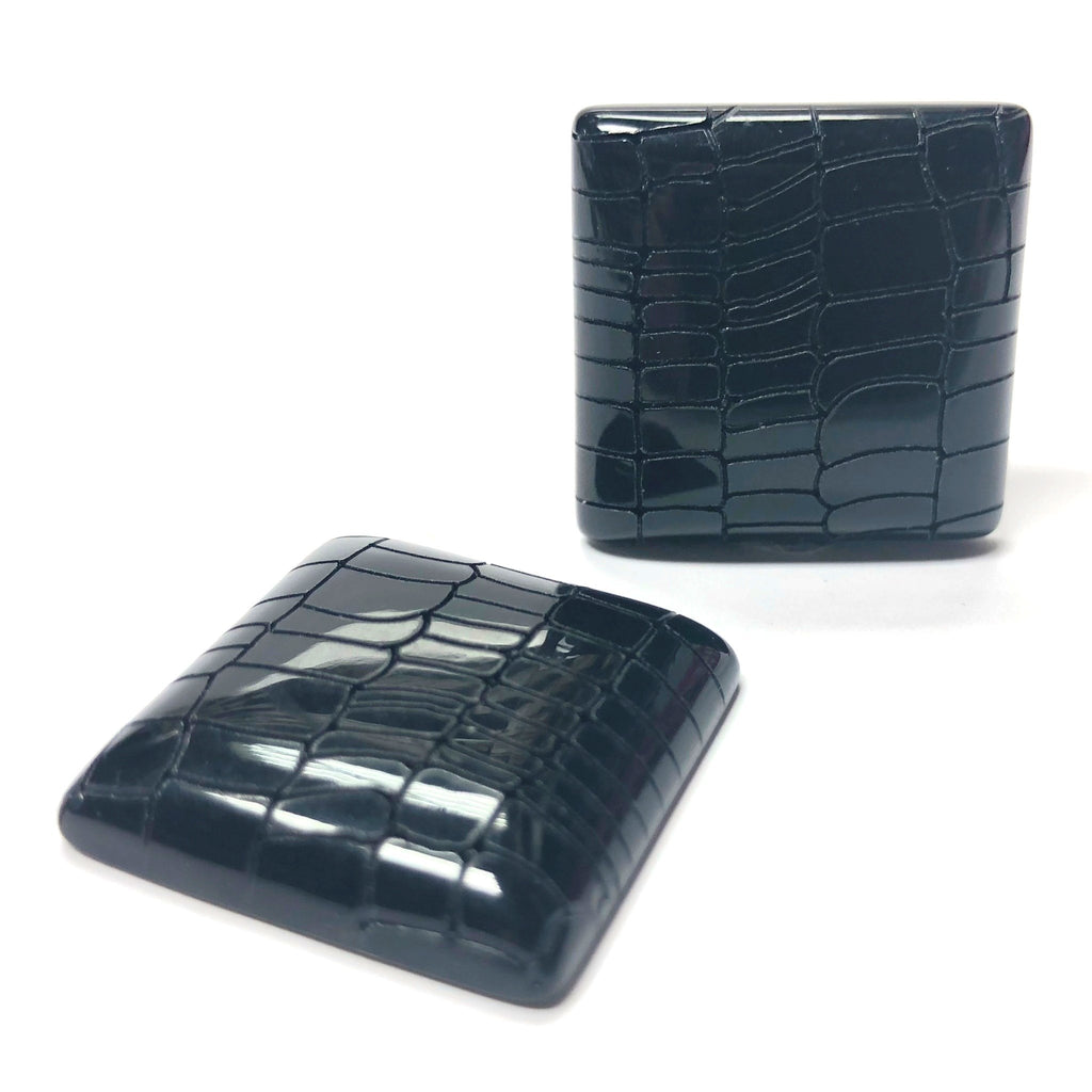 "25MM Black ""Croc"" Square Cab (6 pieces)"