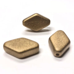 "14X24MM Gold ""Voile"" Diamond Bead (6 pieces)"