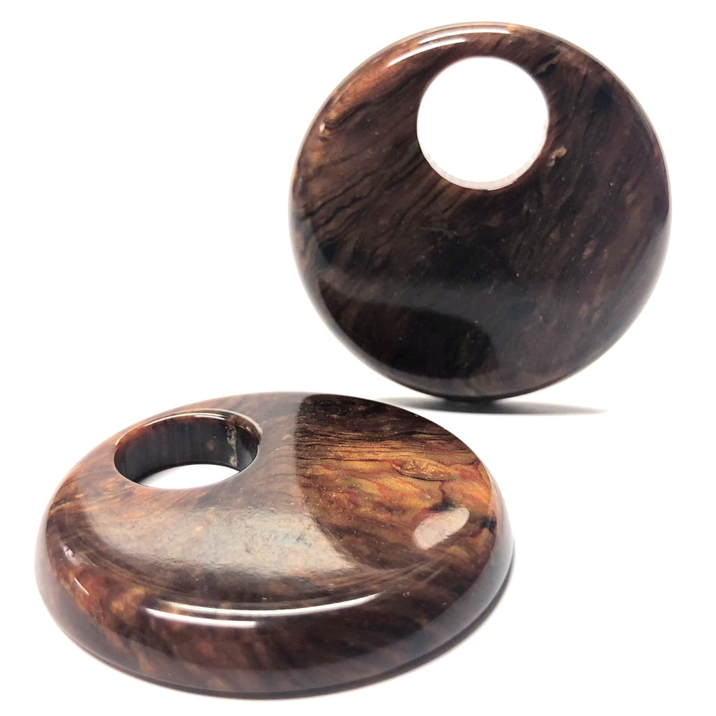"44MM ""Wood Burl"" Hoop (2 pieces)"