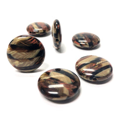 "19MM ""Parquet"" Disc Bead (6 pieces)"