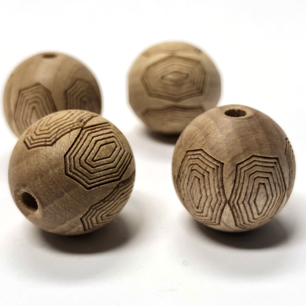 "22MM ""Legno Shell"" Wood Bead (6 pieces)"
