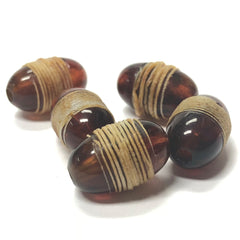 "10X16MM Tortoise ""Twine"" Oval Bead (12 pieces)"