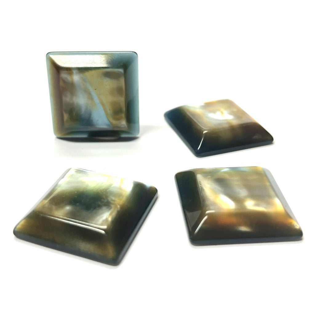 "10MM Beige-Blue ""Bora-Bora"" Square Cab (12 pieces)"