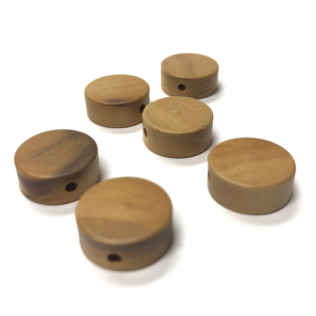 18MM Olivewood Disc Beads (12 pieces)