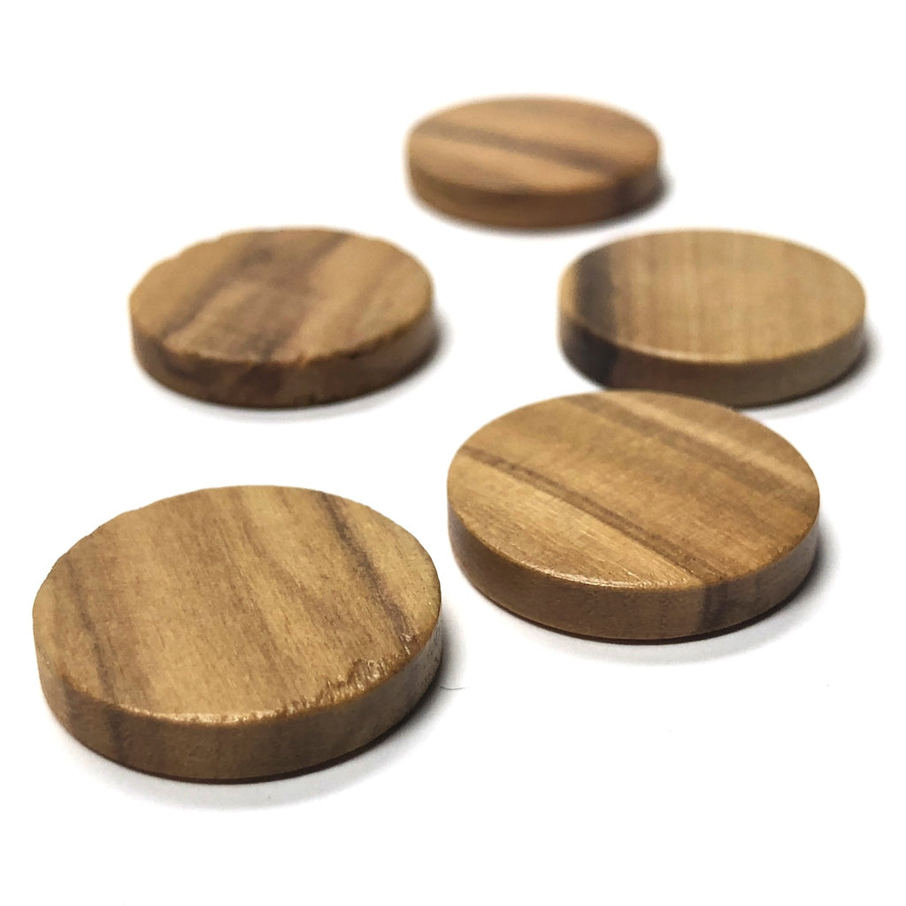 13MM Olivewood Round Cab (12 pieces)